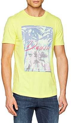 Tom Tailor Men's T-Shirt with Print 1003331040 Dawn Yellow 12915, X-Large