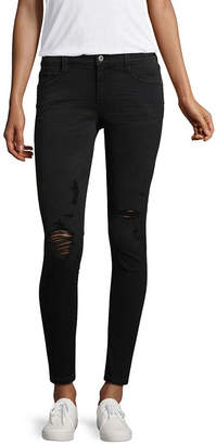 Arizona Slim Fit Ripped Ankle Jeans-Juniors