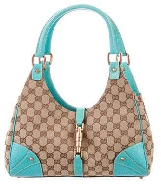 Gucci GG Canvas Nailhead Bardot Bag