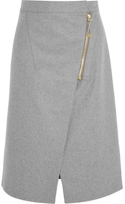 Acne Studios - Wrap-effect Brushed-twill Skirt - Light gray $420 thestylecure.com
