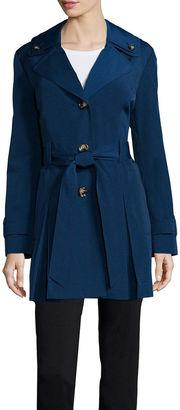 LIZ CLAIBORNE Liz Claiborne Double Collar Belted Trench Coat $150 thestylecure.com