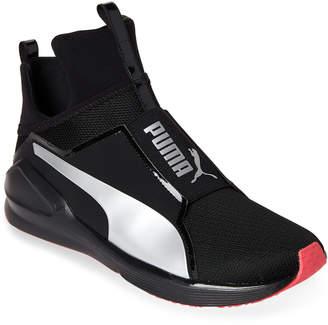 Puma Black & Silver Fierce Core Training Sneakers