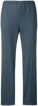 Alberto Biani check tapered trousers