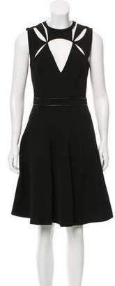 J. Mendel Cutout-Accented A-Line Dress