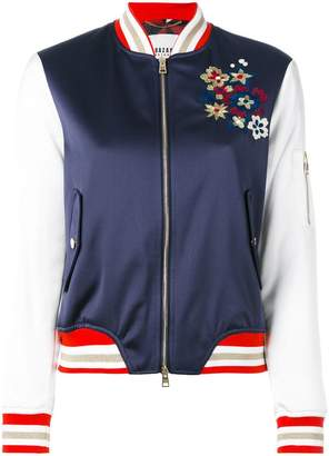 Bazar Deluxe floral embroidery bomber jacket