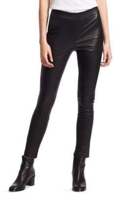 Rag & Bone Simone Slim-Fit Cropped Leather Pants