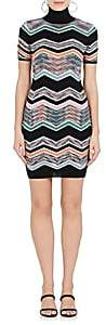 Missoni Women's Zigzag-Knit Wool-Blend Dress - Wht.&blk.
