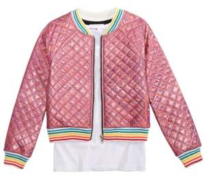Beautees Big Girls 2-Pc. Quilted Bomber Jacket & Tank Top Set