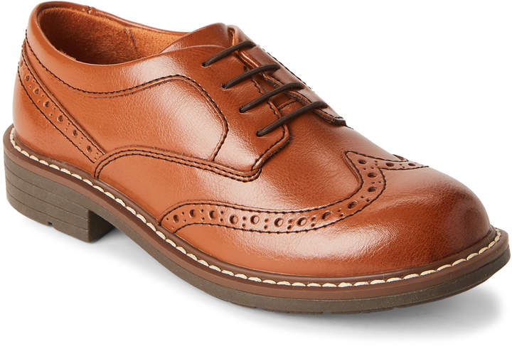 Kids Boys) Cognac Studio Wingtip Jr Oxfords