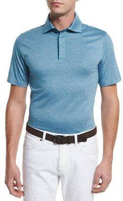 Ermenegildo Zegna Stretch-Cotton Polo Shirt, Teal $275 thestylecure.com