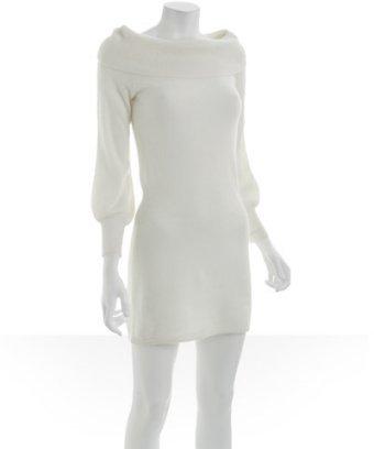 Design History white cashmere wide neck dress