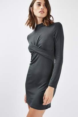 Topshop Twist Front Bodycon Dress