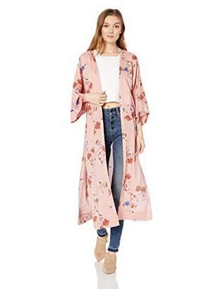 Jessica Simpson Women's Gwendelin Multi Floral Kimono, XSmall