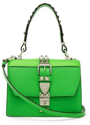 Prada Elektra Leather Shoulder Bag - Womens - Green