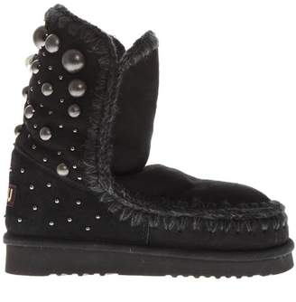 Mou Black Eskimo Shearling Boots