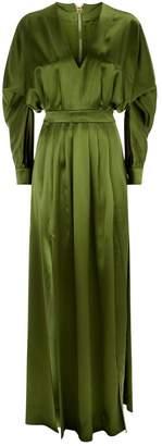Balmain Silk V-Neck Gown