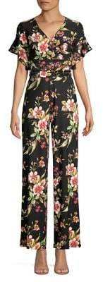 Rachel Roy Floral V-Neck Jumpsuit