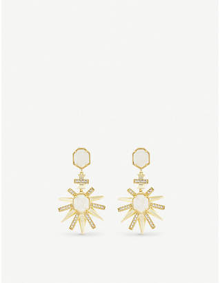 Kendra Scott Allie gold-plated and iridescent drusy earring