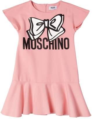 Moschino Bow Printed Milano Jersey Dress