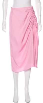 Tibi Flared Knee-Length Skirt