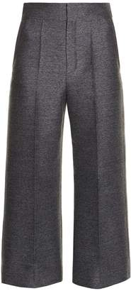 LANVIN Wide-leg flannel cropped trousers $1,111 thestylecure.com