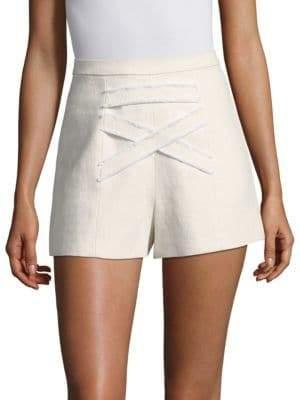 7d5e15f56b8 Alexis Women s Sebastian Linen-Blend Shorts - Ecru - Size Large