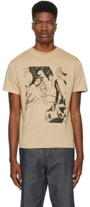 J.W.Anderson Brown Foot Print T-Shirt