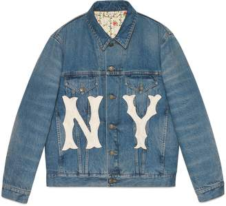 Gucci Women's denim jacket with NY YankeesTM patch
