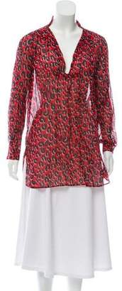 Louis Vuitton Sheer Animal Print Tunic