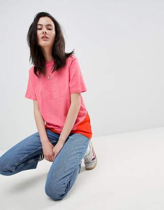 adidas Colorado Paneled Trefoil T-Shirt In Pink