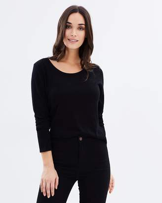 Bamboo Cashmere Wool Scoop Knit