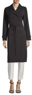 Eileen Fisher Double Breasted Trench Coat
