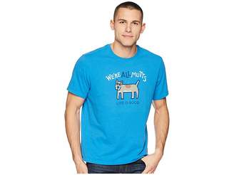 Life is Good We're All Mutts Smooth Tee