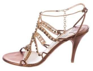 Jimmy Choo Jewel-Embellished Cage Sandals