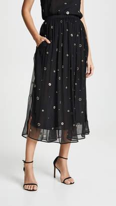 Vince Metallic Embroidery Skirt