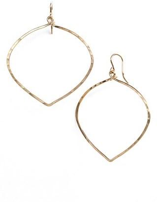 Women's Ija 'Large' Faceted Lotus Hoop Earrings $63 thestylecure.com