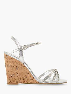 f6444070fde Dune Minke Wedge Heel Diamante Sandals