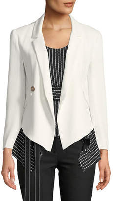 Derek Lam 10 Crosby Easy Fluid One-Button Crepe Blazer