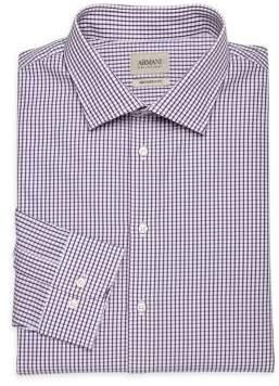 Armani Collezioni Plaid Cotton Dress Shirt
