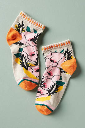 Peony & Moss Nature Bouquet Ankle Socks