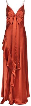 Nicholas Silk Ruffle Maxi Dress