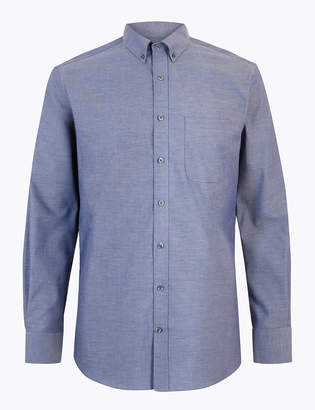 M&S CollectionMarks and Spencer Cotton Easy Iron Tailored Fit Oxford Shirt