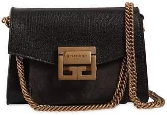 Givenchy Nano Gv3 Leather & Suede Shoulder Bag