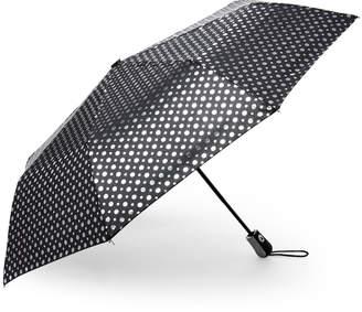Kensie Automatic Open Foil Dot Umbrella