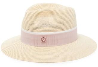 Maison Michel Henrietta Straw Hat - Womens - Pink