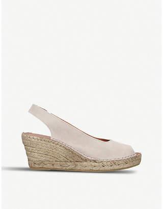 Carvela Comfort Sharon suede slingback wedge sandals