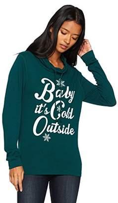 Fifth Sun Junior's Women's Cowl Neck Sweater