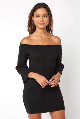 BB Dakota Off The Shoulder Bell Sleeve Sweater Dress
