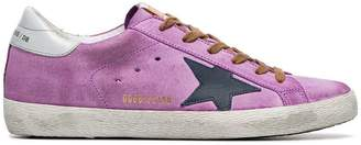 Golden Goose purple Superstar suede sneakers