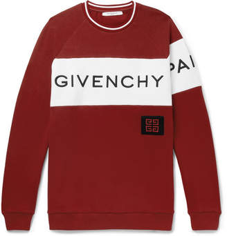 Givenchy Logo-Embroidered Fleece-Back Cotton-Jersey Sweatshirt